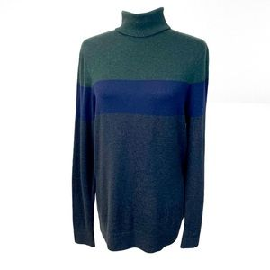 Women's H&M Turtleneck Sweater Striped Size M
